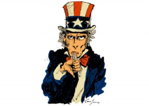 uncle sam thumbs down