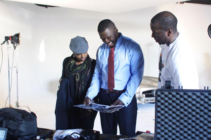 50 Cent Behind the scenes Black Enterprise cover shoot
