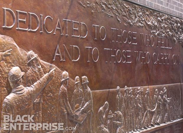 9/11 memorial plaque for lost firemen