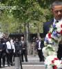 President Obama laying wreath at 9/11 memorial