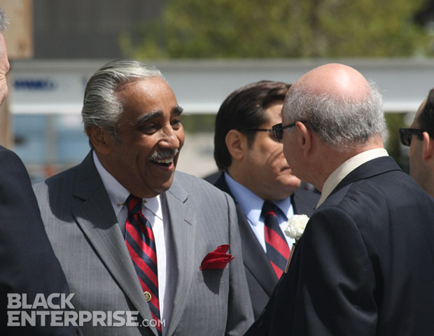 Congressman Charlie Rangel at 9/11 memorial wreath ceremony