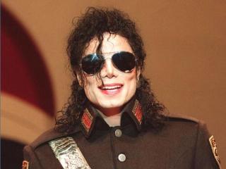 Michael Jackson in glasses