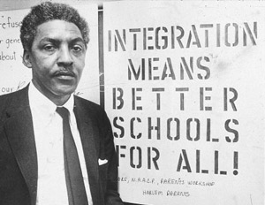 Civil Rights & Gay Rights activist Bayard Rustin