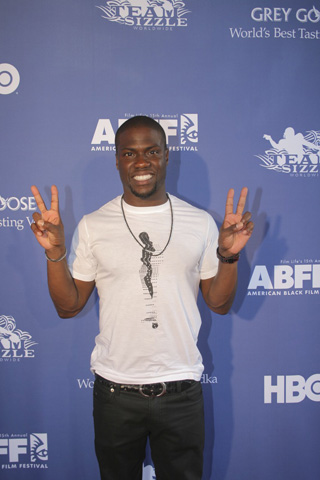 Comedian Kevin Hart was one of the celebrities at ABFF. (Photo by Terrence Jennings)