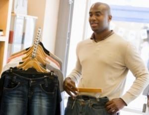 black man shopping