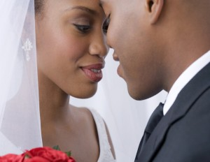 black couple married
