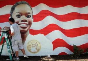 gabby douglas mural