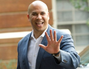 cory booker smiling