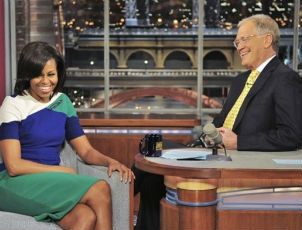 Michelle Obama Tells Letterman She 'Tends Not To Watch' RNC