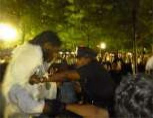 Brooklyn City Councilman Shoved at OWS Anniversary Rally