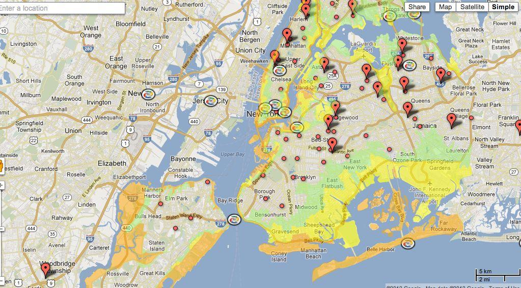 Google Unveils Crisis Map for Hurricane Sandy