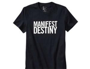 """Manifest Destiny"" shirt disturbs GAP customers"