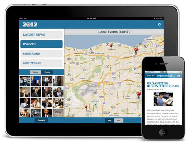 Obama for America app screen shot