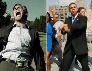 romney and obama spoof videos