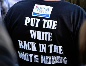 Romney Supporter Wears Racist T-Shirt To Rally