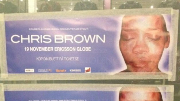 Activists Paste Posters of Battered Rihanna to Protest Chris Brown Concert