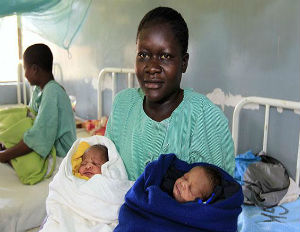 Kenyan Mom Names Newborn Twins Mitt and Barack