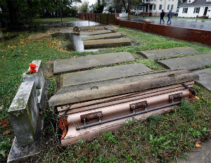 Hurricane Sandy Unearths Coffins Near Baltimore