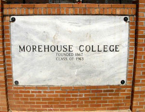 morehouse college sign
