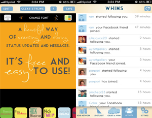 Whims: 'Instagram For Words' Allows Users to Get Creative With Status Updates