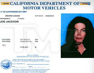 Photo of Michael Jackson's Last Driver's License Released