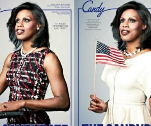 Transgender Poses as Michelle Obama for Candy Magazine