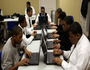 black men at computer