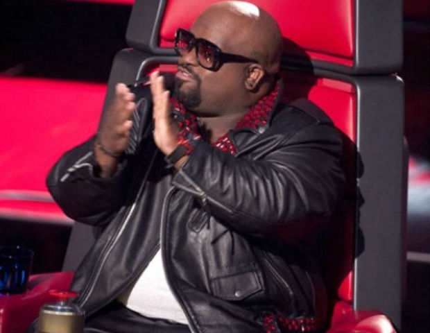 Cee Lo on the set of The Voice