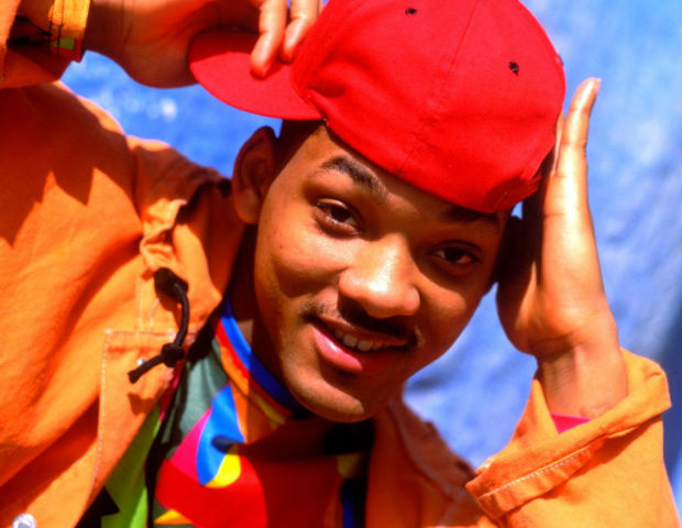 Will Smith on the set of Fresh Prince