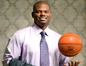 Former NBA All Star Jamal Mashburn Slam Dunks in the Business Arena