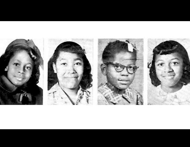Addie Mae Collins, 14, Cynthia Wesley, 14, Carole Robertson, 14 and Denise McNair, 11.