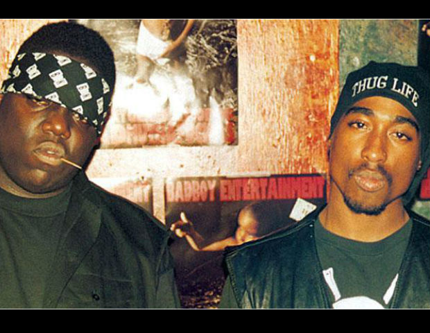 Tupac and the Notorious B.I.G. together as friends.