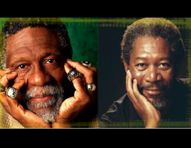morgan freeman and bill russell look a like