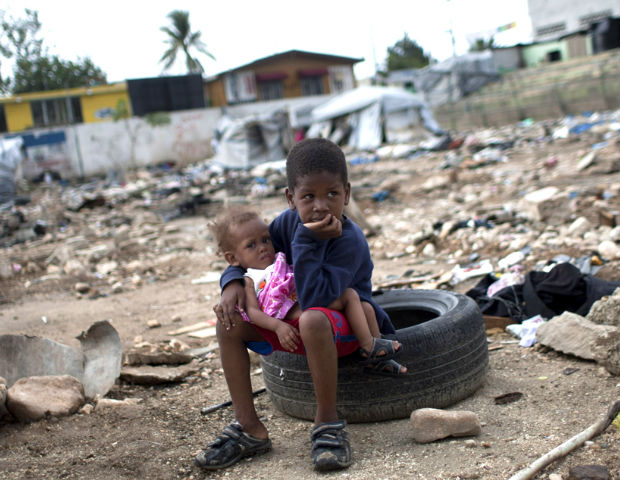 More than one million people sat homeless after Haiti's 7.0 earthquake.