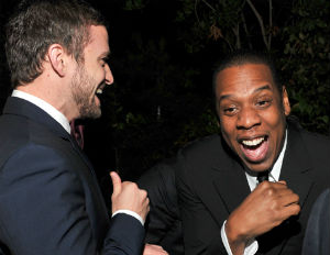 jay-z and justin timberlake laughing