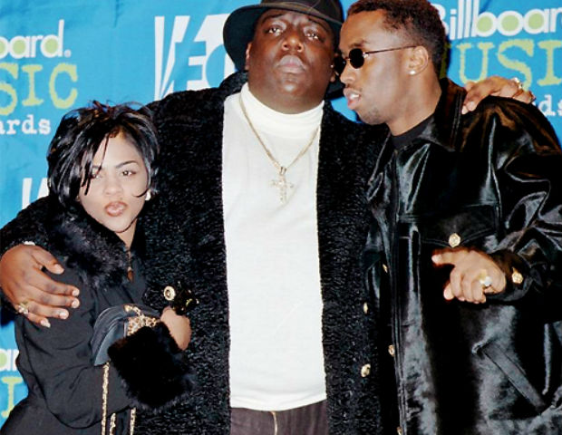 lil kim with biggie and diddy