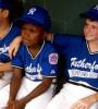 black kid playing baseball