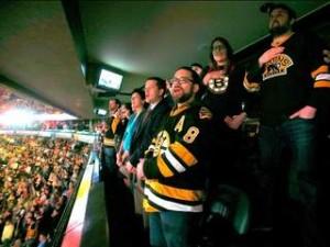 boston bruins fans national anthem
