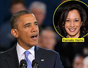 obama calls kamala harris good looking