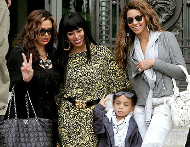 Beyoncé, Solange, Tina Knowles and Solange's son, Daniel Juelz Smith, Jr.
