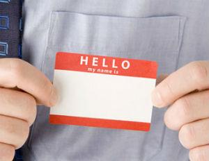 hello name tag