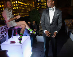 Plaxico Burress Unveils New Luxury Sock Line