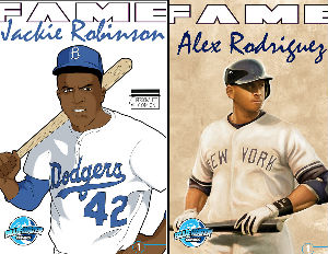 Jackie Robinson & Alex Rodriguez Premiere in New Bluewater Productions Comic Books