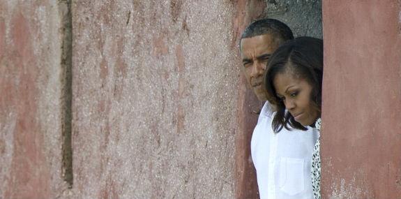 Obamas Visit 'Door of No Return' on Goree Island, Senegal