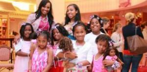black girls at american girl store