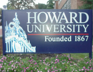 howard university entrance sign