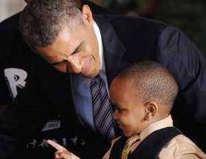 obama with young black boy