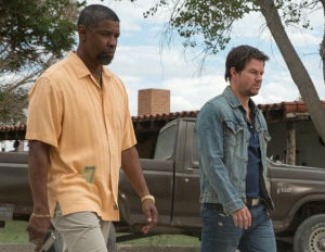 Denzel Washington, Mark Wahlberg & Paula Patton Take NY W/ 2 Guns