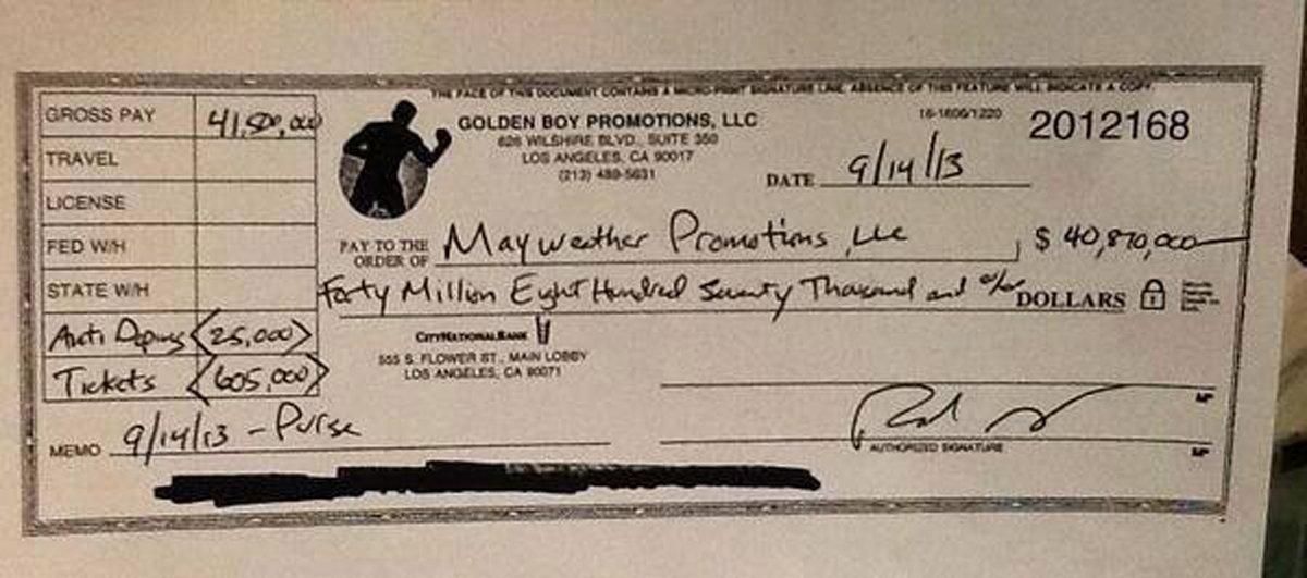 Floyd Mayweather Canvelo Check Black Enterprise