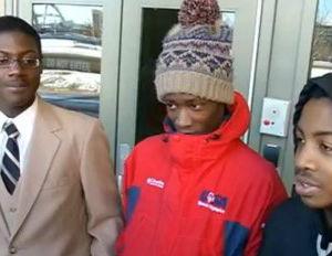 black teens arrested bus stop